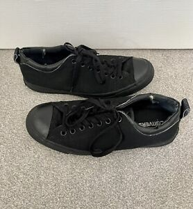 Converse All Star Chuck Taylor Lo Top Mens Black Canvas Shoes UK Size 9.5