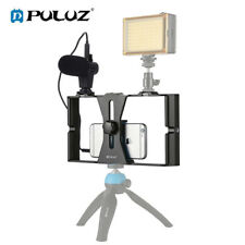 New listing Puluz Vlogging Photo Video Smartphone Video Rig + Microphone Kits for Cell Phone