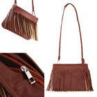 Women's Handbag Tassle Shoulder Crossbody Bag Tote Messenger Satchel Purse Brown