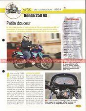 HONDA NX 250 1991 Joe Bar Team Fiche Moto #003556