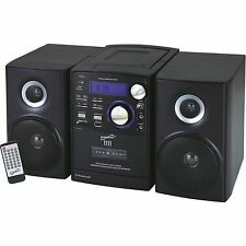 Home Stereo Audio System Bluetooth Portable MP3/CD/CASSETTE Player USB/SD/MMC