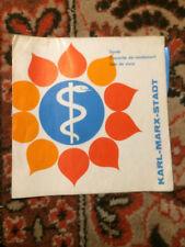 German DDR KARL MARX STADT Public Health Department brochure