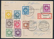 SBZ, MiNr. 42-50 D verschiedene auf Satzkarte, gepr. Ströh, Mi. 388,-