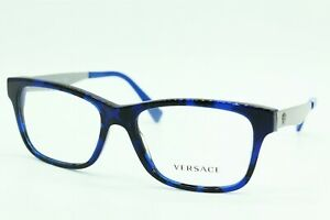 NEW VERSACE MOD. 3245 5237 BLUE HAVANA AUTHENTIC FRAME EYEGLASSES MOD.3245 55-17