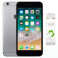 Apple iPhone 6 Plus 16GB Grey Ricondizionato GRADO A Sigillato Nero come NUOVO