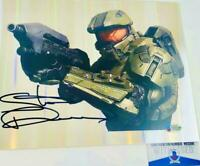 Steve Downes signed Master Chief 8x10 refractor photo HALO BAS M62286