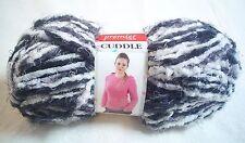 Premier Cuddle Yarn Black White Gray Very Soft & Fluffy 50 Grams