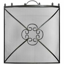 Antique Pewter Fire Screen. Fire Guard. Fire Screen. Fireplace Accessories