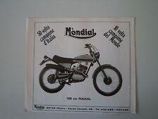 advertising Pubblicità 1973 MOTO MONDIAL 125 RADIAL