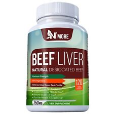 Desiccated Beef Liver Capsules, Certified 100% Grass Fed Undefatted
