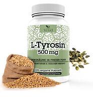 Tyrosin Aminosäure 120 Kapseln 1000mg,Tagesportion L-Tyrosin Beste Qualtiy DE