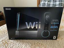 Nintendo Wii+ Sports Black Console Complete W Original Box