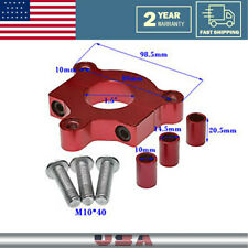 """1.5"""" 38mm Red Cnc Adapter Fits For 49cc 50cc 66cc 80cc 2 Stroke Motorized Bike"""