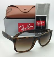 Ray-Ban Sunglasses JUSTIN RB 4165 710/13 51-16 Rubber Light Havana w/ Brown Fade