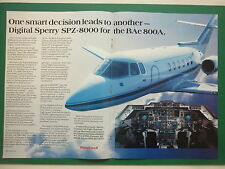 4/88 PUB HONEYWELL DIGITAL SPERRY SPZ-8000 BRITISH AEROSPACE BAE 800 COCKPIT AD