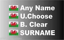 """SMALL"" Welsh Rally Car Name decal sticker graphics"