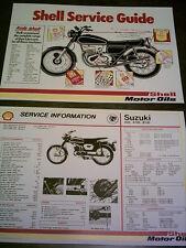 suzuki a50 - a100 - b120 - shell service sheet