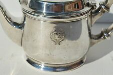 RARE ANTIQUE SILVER PLATED POLYCLINIC HOSPITAL SMALL WATER/COFFEE/TEA POT