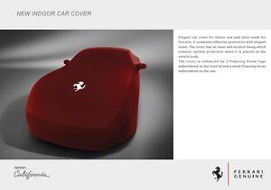 Genuine Ferrari CALIFORNIA T indoor car cover UPRATED BRAND NEW (RED)