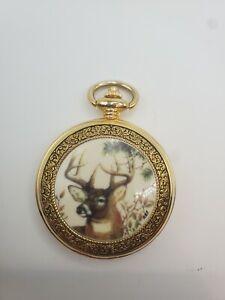 Franklin Mint Pocket Watch Buck Deer Doesn't run