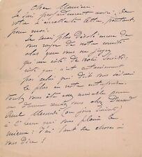 peintre Adolphe Chudant lettre autographe signée Jourdain Société Automne