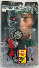 1991 Original Kenner Terminator 2 John Connor with Motorcycle action Figure MOC