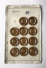 Set of 30 Vintage Buttons on Card - Retro British Haberdashery