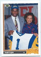 1991 Upper Deck #21 Todd Lyght Rookie Football Card Mint