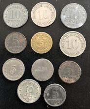 11 Kleinmünzen - 5 + 10 Pfennig Münzen