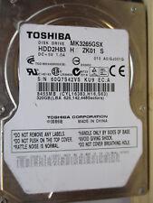 320 Go Toshiba mk3265gsx zk01 s ku9 hdd2h83 PCB OK disque dur 010 Disco