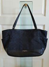 COACH Park Signature Carrie Tote Handbag. Black. F23297 EUC Ship Fast
