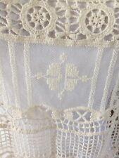 SUNDANCE CATALOG Ivory Crochet Lace Popover Top Blouse Small Pretty