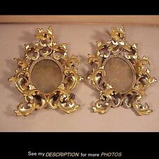 Antique Pair Heavily Rococo Gilt Brass Picture FRAMES