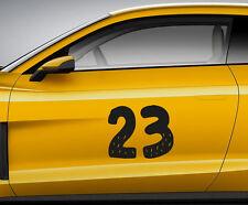 Carrera Número Toon 11. de coche personalizado Vinilo Puerta Etiqueta. la pista senderos transferencia.