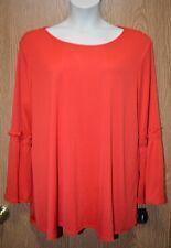 Womens Pretty Chinese Red Alfani Long Flared Shirt Size 2X NWT NEW