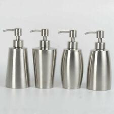 1 X Cone Stainless Steel Soap Dispenser Pump Liquid Bottle for Kitchen Silver
