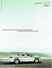 PUBLICITE ADVERTISING 096  2003  le coupé A4  cabriolet Audi