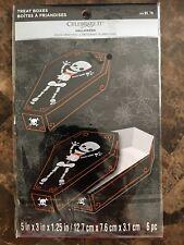 "Halloween Coffin Treat Boxes 5"" x 3"" x 1.25"" 6 Pc Celebrate It New"