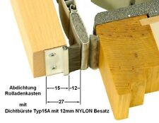 1 m Rolladen-Abdichtung 15mm ALU-Profil mit 12mm NYLON Fenstersturz-Dichtbürste