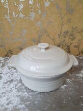 Le Creuset Casserole Round Dish Pot. 20cm Cream