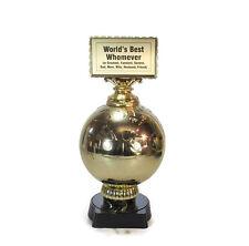 """World's Best"" Trophy- Custom Words- Appreciation- Recognition- Free Lettering"