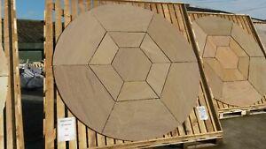 BRADSTONE S/STONE CIRCLE & HEXAGON INSET 2.4M AUTUMN GREEN 21629