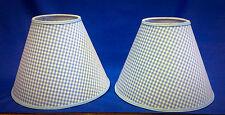 Set of 2 Blue White Gingham Check Handmade Lamp Shade Lampshade