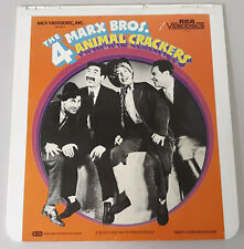 The 4 Marx Bros. Animal Crackers Vintage RCA Selectavision VideoDisc Video Disc