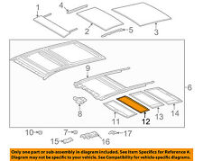TOYOTA OEM 09-15 Venza Sunroof Sun Roof-Sunshade Shade Cover 633060T020A0