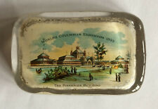 Chicago 1893 Worlds Fair THE FISHERIES BUILDING Glass Paperweight