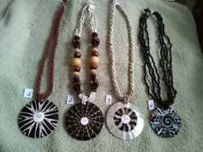 Shiva Eye, Pua, Mother of Pearl, Coral,Cone, Abalone Shell Beaded Necklaces