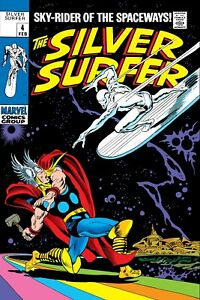 The Silver Surfer vs Thor Comic Book Cover Poster 24X36 inches