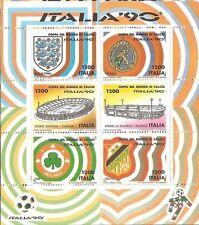 1990 ITALIA REPUBBLICA MONDIALI CALCIO ITALIA 90 FOGLIETTO NUOVO PERFETTO