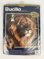 Bucilla 4755 LION King of the Jungle Needlepoint Kit 1998 NEW Picture/Pillow